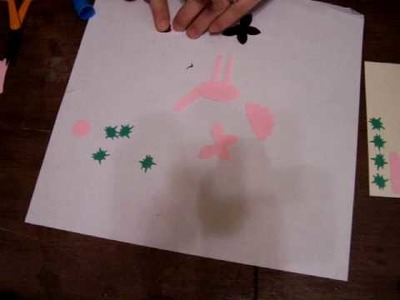 How to make a flamingo using punches