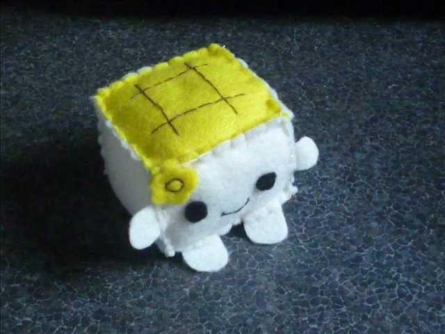 How to Make a Kawaii Tofu Plush from Felt