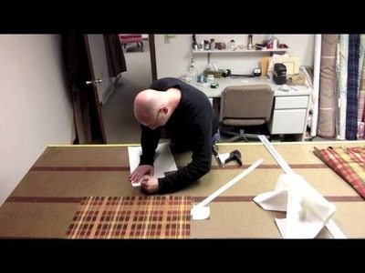 How to make a scalloped valance with contrast pleats