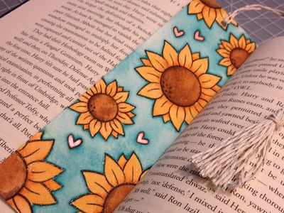 How to: Make a Watercolored Bookmark and a Tassel