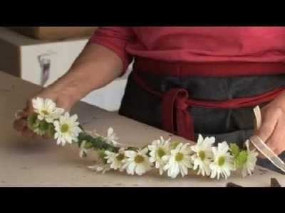 How to Make a Wreath of Flowers for a Flower Girl's Head : Gardening & Flowers