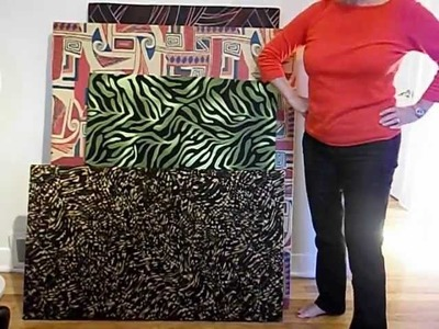 How to make art work  with fabric, styrofoam and duct tape