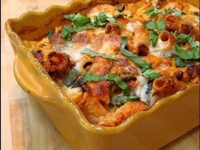 How to Make Baked Ziti. Pasta al Forno Recipe - by Laura Vitale Episode 51 Laura in the Kitchen