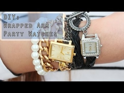 How To Make:Wrapped Watches-Arm Party.Arm Candy