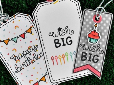 Intro to Birthday Tags + quick & easy tags from start to finish