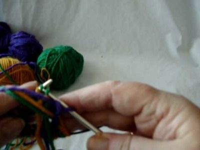 Latvian braid in 3 colors part 2