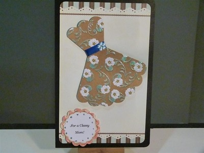 Mothers day card using Sizzix Eclips