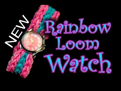 NEW Rainbow Loom Design - How to make a Double Triple Single Watch Band HD