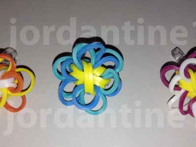 New Rainbow Loom Two Color Flower Fun Charm