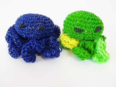Octopus Rainbow Loom Bands Amigurumi. Loomigurumi Hook Only Tutorial