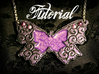 Ornate Butterfly Polymer Clay Tutorial with Pebeo Prisme Paint | Velvetorium