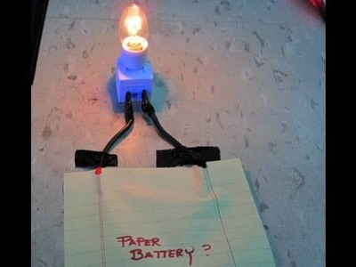 Paper BATTERY invented at Stanford University. Paper+ink+nanotubes=INSTANT BATTERY.