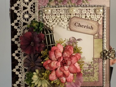 PART 3  TUTORIAL HEARTFELT CREATIONS RAINDROPS ON ROSES MINI ALBUM - DESIGNS BY SHELLIE