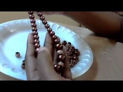 Pearl necklace set making tutorial in Tamil