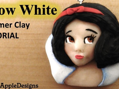 Polymer Clay Disney Princess Snow White Charm.Pendant Tutorial. Biancaneve in FIMO. Blancanieves