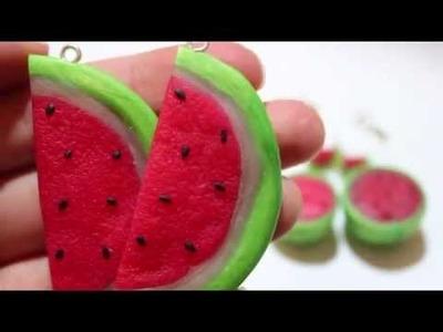 Polymer Clay Watermelon Jewelry Tutorial