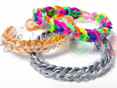 Rainbow Loom - Cap Link Chain - Easy Design Tutorial