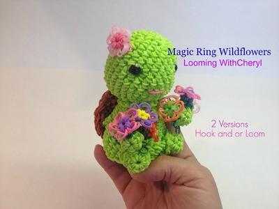 Rainbow Loom Magic Ring WildFLOWERS -- Looming WithCheryl