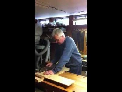 Rev Jim Paulson Uses a Shooting Board