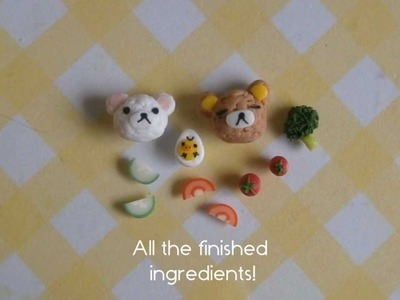 Rilakkuma Bento Box Tutorial - Polymer Clay [HD]