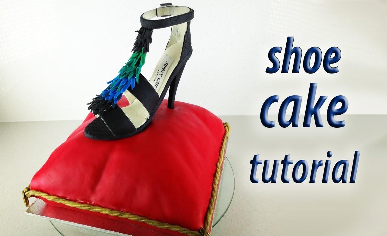 Stiletto Shoe Cake Tutorial Fondant Pillow Cake HOW TO COOK THAT Ann Reardon Cake Decorating