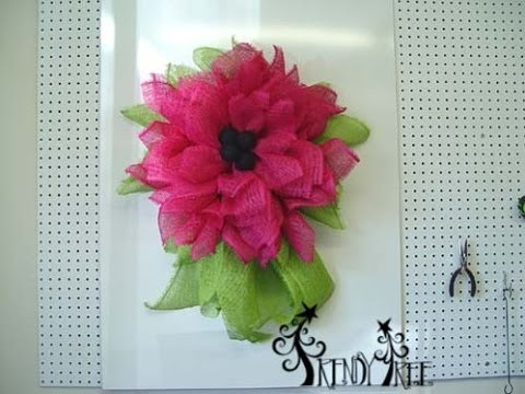 Trendy Tree Deco Paper Mesh Flower Video
