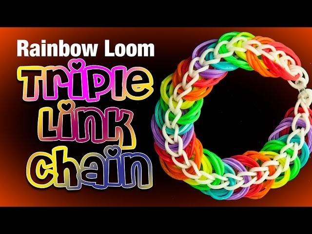 Triple Link Chain - Rainbow Loom Bracelet