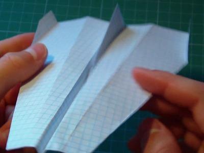 Tutorial slow flying paper glider+test flight