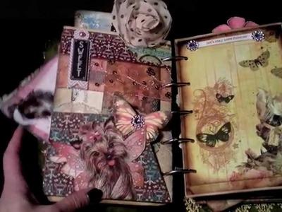 Yorkie Dreamz - Vintage Altered Journal Mixed Media Clipboard Album