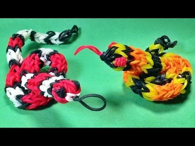 3D Loom Bands Snake Charm - How to Make on the Rainbow Loom
