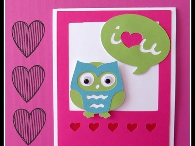 Close to My Heart Artbooking Cricut Owl Valentine Card