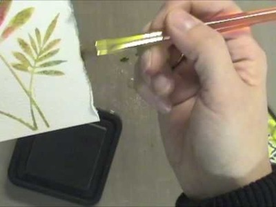 Distress Watercolor Stamping