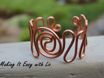 Easy Wire Work Cuff Bracelet -