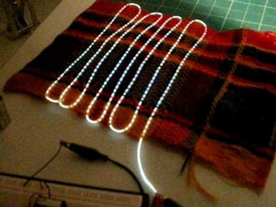 Electro-Luminescent Fibers, weaved in to a textile