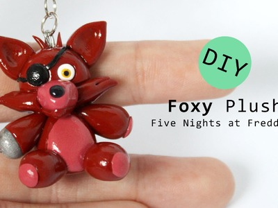 Five Nights at Freddy's Foxy Plush Polymer Clay Tutorial
