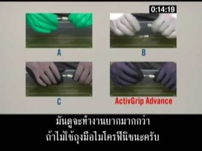 Glovetex presents Towa gloves with Microfinish - with Thai subtitles
