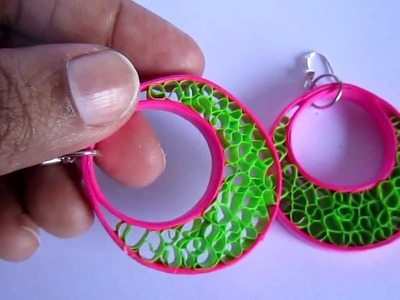 Handmade Jewelry - Paper Beehive Quilling Hoops