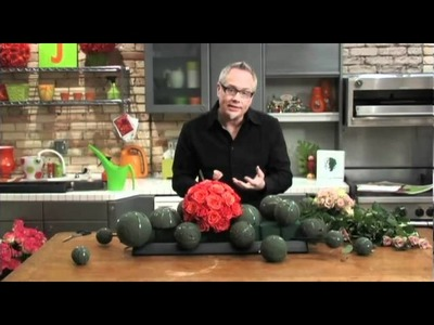 How To Arrange Flowers - Rose Sphere Table Centerpiece!