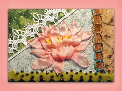 How to embroider a silk ribbon waterlily flower
