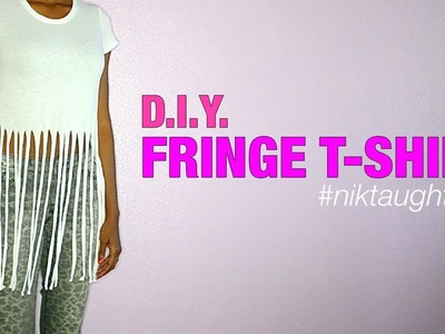 How to make a fringe t-shirt | Nik Scott
