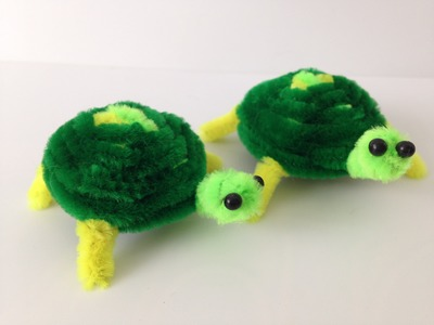 How to make a Pipe Cleaner Turtle [Pipe Cleaner Animals]