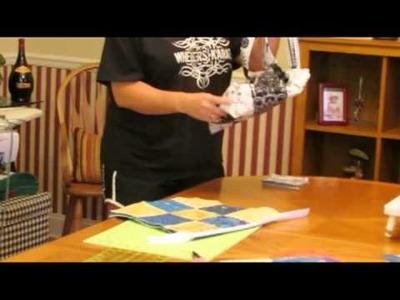 How to make a quilt tote purse.handbag (tutorial)