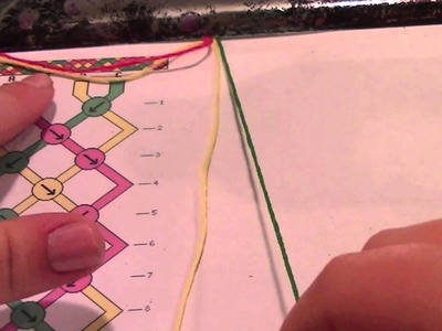 How to make friendship bracelets: reading friendship bracelet patterns