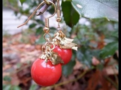 How to Make Simple Ornament Earrings