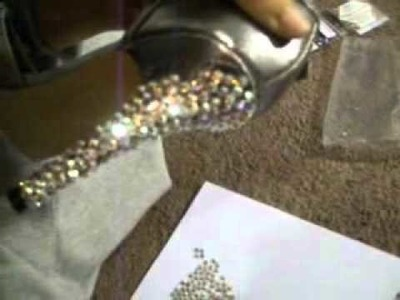 How to make swarovski shoes