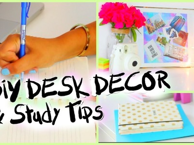 How To Organize Your Desk & Study Tips