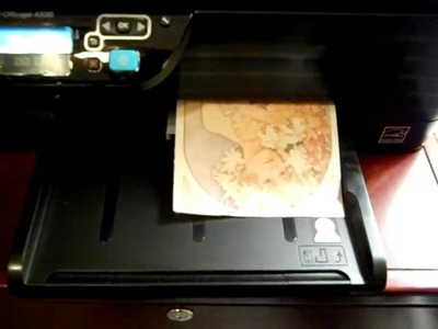 How to Print an Image on Fabric - Tutorial - Using Inkjet Printer and Freezer Paper!