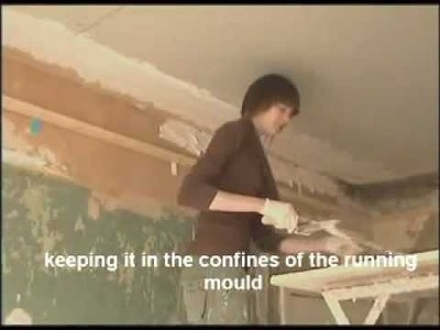 HOW TO RUN A SOLID CORNICE USING LIME PUTTY AND CLASS A PLASTER