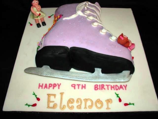 Ice Skating Boot Fondant Cake