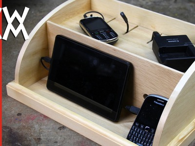 Make a device charging station to organize your phones and gadgets